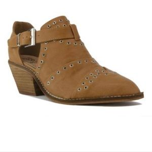 Beast Brown Riveted Bootie